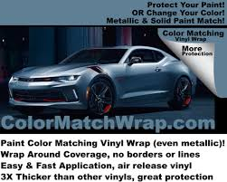 Paint Color Matching by 2018 Camaro Vinyl Wrap Paint Color Matching Vinyl Wrap U2013 Colorx