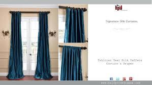 Teal Taffeta Curtains Teal Taffeta Curtains 5 Signature Silk Curtains Teal Silk Taffeta