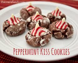 peppermint kiss chocolate cookies the coers family