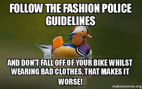 Fashion Police Meme - follow the fashion police guidelines and don t fall off of your