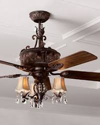 Kitchen Ceiling Fan With Light by Warehouse Of Tiffany Charla 4 Light Crystal 52 Inch Chandelier