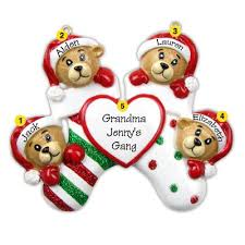 personalized family of four ornaments