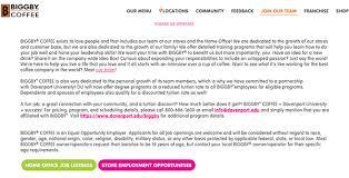 biggby coffee job application apply online