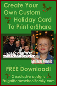 free photo christmas card templates with tutorial