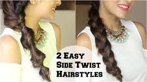 2 subtle twist side braid hairstyle for medium long hair using