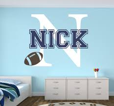 compare prices on baby boy room decoration online shopping buy personalized name wall decal football sports baby room decor nursery wall decals vinyl mural boys