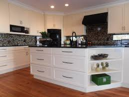 Kitchen White Cabinets Black Appliances White Cabinets White Cabinetry Black U0026 White Backsplash Island