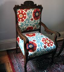 change upholstery on chair antique eastlake oak chair change the fabric colours to my