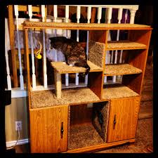 Homemade Cat Hammock by Look What I Made Out Of An Old Entertainment Center Diy Pet