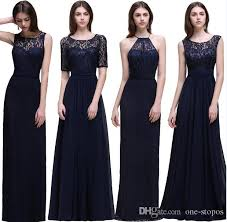 navy blue bridesmaids dresses cheap navy blue chiffon bridesmaid dresses unbder 50 lace top
