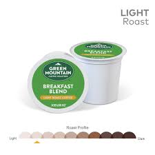 light roast k cups green mountain coffee roasters breakfast blend single serve keurig k