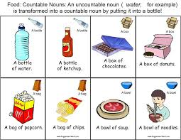 Count And Noncount Nouns Exercises Elementary One Fish Two Fish Teaching About Count And Noncount Nouns