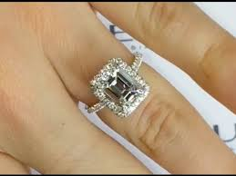 3 halo engagement rings 3 carat emerald cut halo engagement ring