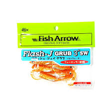 cuisine flash fish arrow flash j grub 3 sw 121 glow orange silver