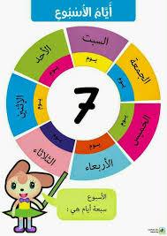 days of the week أيام الأسبوع learn arabic for kids pinterest