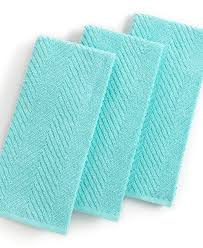 martha stewart collection kitchen towels set of 3 textured terry