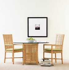 Woven Chairs Dining Woven Rawhide Dining Table By Mcguire Designs New Woven