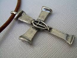 mens necklace with cross images Leather necklace christian cross cross necklace mens necklace jpg