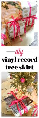 easy diy vinyl record tree skirt