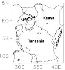 africa map black and white map of east africa