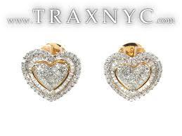 gold diamond earrings gold diamond heart earrings diamond earrings for women jpg