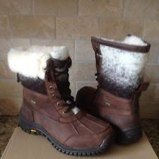 ugg s adirondack winter boots ugg adirondack ii chocolate leather waterproof sheepskin boots