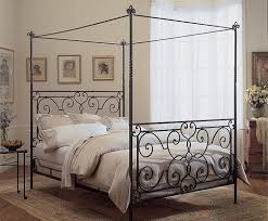 Canopy Bed Frames Furniture Photo Of Black Metal Canopy Bed With Frame Home Design