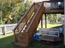home wood deck stair railing ideas design modern handrail outdoor