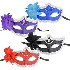 bulk masquerade masks bulk plastic party masks with flowers and plastic gems at dollartree