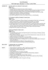 associate product specialist resume samples velvet jobs
