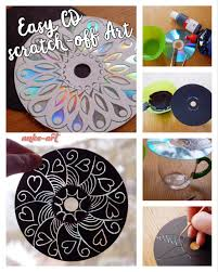 easy cd scratch off art for kids of all ages anke art my diy