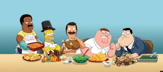 happy thanksgiving family and friends thanksgiving tv 2012 homer simpson peter griffin and fox u0027s