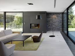 living room great small modern design idea with black wall white