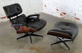 black leather club chair and ottoman awesome sold vintage eames lounge chair ottoman in black leather for