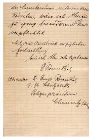 Writing On Graph Paper Letter Sent By Ernst Rosenthal From Prison To Emil Kruckmann And