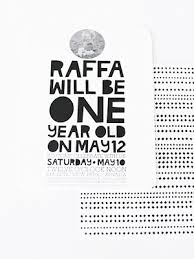 raffa u0027s modern first birthday party invitations