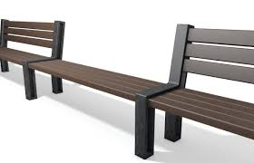 hyde park bench connection module benches hahn kunststoffe