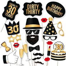 photo booth prop 36pieces photo booth prop woman style 30 years moustache glass