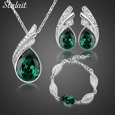 bridal jewelry necklace earrings images Hot sale wholesales bridal jewelry set austrian crystal fashion jpg