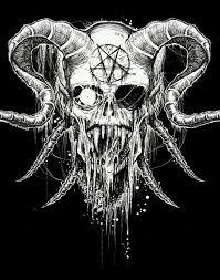 pin by evan monnster on satan skulls