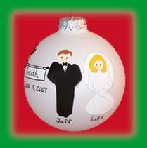 personalized wedding and anniversary ornaments at christmas