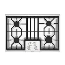 shop bosch 500 series 30 in 4 burner gas cooktop white at lowes com