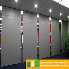 Retractable Room Divider by China Acoustic Movable Folding Partition Wall Hotel Room Divider