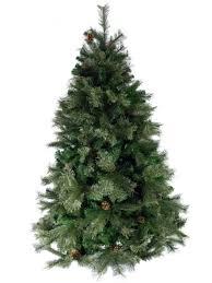 swiss pine christmas tree with shortleaf pine cones u0026 twigs 1 83