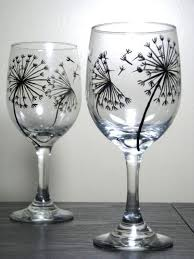 hand painted wine glasses ideas wine glass painting designs best