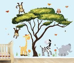 amazon com african tree safari pride jungle tree wall decals