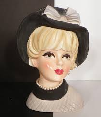 Vintage Lady Head Vases Vintage Napco Napcoware C 7495 Lady Head Vase Planter Pearl