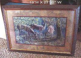 home interiors deer picture homco masterpiece collection on ebay
