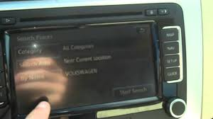 how to use your volkswagen u0027s navigation system youtube