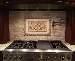 decorative kitchen backsplash medallions for backsplash our floral tile and thin liners in